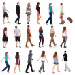 "Collection "" back view of walking "". — Stock Photo"