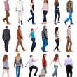 Collection \ back view of walking \. — Stock Photo