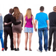 Back view group of couple. — Stock Photo #27764537