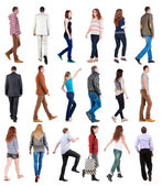 "Collection "" back view of walking "". — Stockfoto"