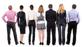Back view of business team looks — Stock fotografie