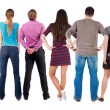 Stock Photo: Back view group of people looking