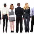 Stock Photo: Back view of business team looks