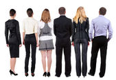 Back view of business team looks — Stockfoto
