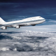 Passenger airplane in the clouds. — Stock Photo #28257991