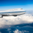 Passenger airplane in the clouds. — Stock Photo #28380359