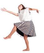 девушка в платье танцы — Стоковое фото