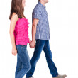 Back view of walking young couple — Stock Photo #29062497