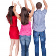 Back view of dancing young people — Stock Photo