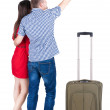 Couple traveling with suitcas — Stock Photo #33976041