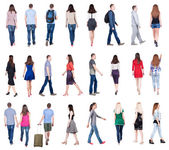 Back view of walking people — Stock Photo