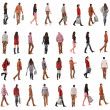 """Collection """"back view of walking people """" — Stock Photo"""