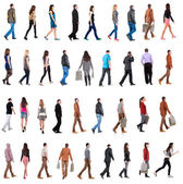 "Collection ""back view of walking people "". — Stock Photo"