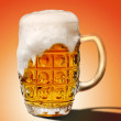 Glass of light beer foam — Stock Photo #36665123