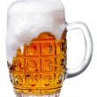 Glass of light beer foam — Stock Photo #37075399