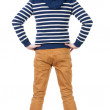 Back view of handsome man in blue striped sweater — Stock Photo #39360351