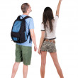 Back view of young couple looking away — Stock Photo #51278215