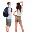 Back view of young couple looking away — Stock Photo #51278225