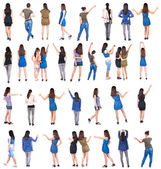 "Collection "" back view of people "". — Stock Photo"