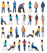 """Collection """" back view of people """". — Stock Photo"""