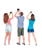 People photographed attractions. — Stock Photo