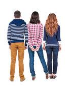 Three people — Stock Photo