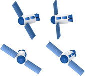Communication Satellites sending signals — Stock Photo