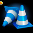 Traffic cones — Stock Vector #42487129