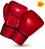 Red Boxing gloves — Stock Vector