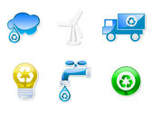 Recyclable icons set — Stock Vector