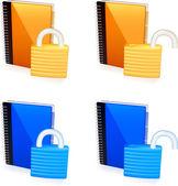 Set of Address books icon — Stock Vector