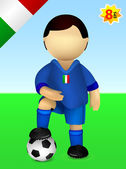 Italian national soccer team player — Stock Vector