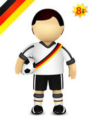 Player of German national soccer team — Stock Vector