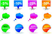 Selling and discount Badges — Vector de stock