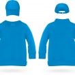 Plain long sleeve shirt with baseball hats for kids. — Stock Vector #42719857
