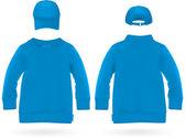 Çocuklar için Beyzbol şapkalı düz uzun kollu gömlek. — Stok Vektör