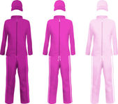 Blank  purple sport suits template. — Cтоковый вектор