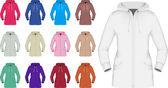 Plain hooded jacket template — Vector de stock