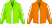 Safety jacket template. — Stock Vector