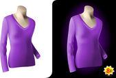 Female purple shirt — Stock Vector