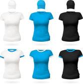 Semplice modello di t-shirt. — Vettoriale Stock