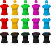Modelo de t-shirt simples feminino. — Vetor de Stock