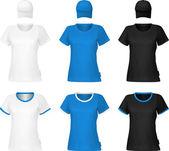Modelo de t-shirt simples. — Vetor de Stock