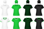 Modello di t-shirt verde pianura. — Vettoriale Stock