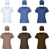 Modello di t-shirt polo pianura. — Vettoriale Stock