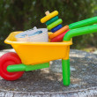 Wheelbarrow toy - Foto de Stock