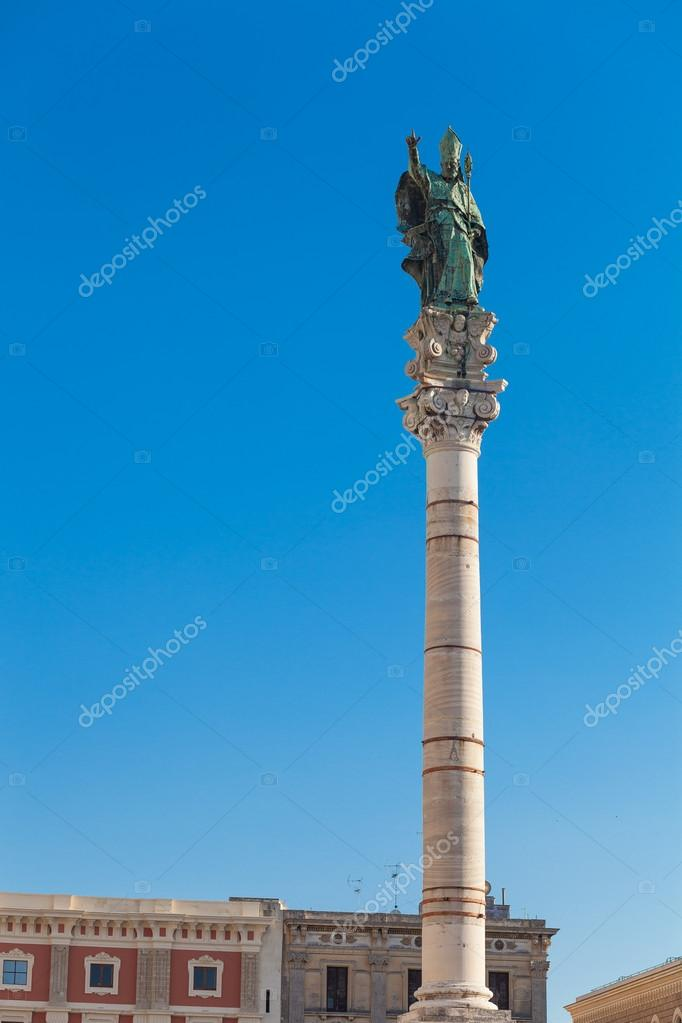 Saint Oronzo famous statue in the center of Lecce city  Stock Photo #13762073
