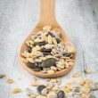 Pumpkin and sunflower seeds — Stock Photo