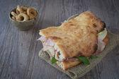 Italiaanse sandwich — Stockfoto