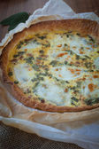 Quiche with ham and sage — Foto Stock